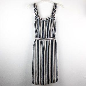 Madewell Apron Mini Dress In Evelyn Stripe Sz 10